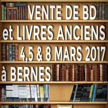 BD et livres anciens à Bernes mars 2017