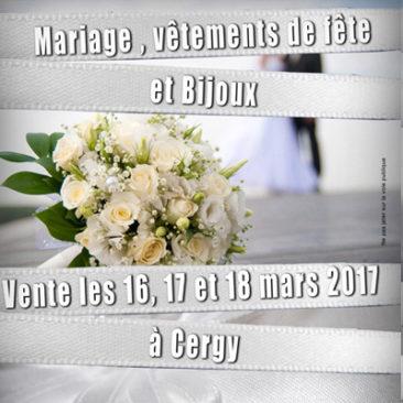 Mariage, vêtements de fête et bijoux à Cergy mars 2017