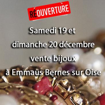 Vente bijoux  les 19 et 20 décembre à bernes sur oise