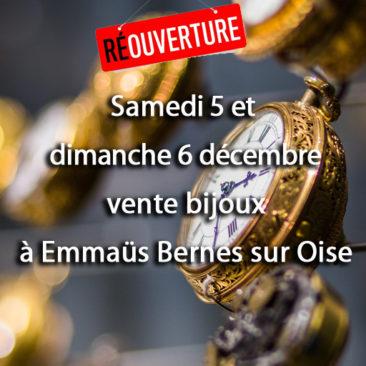 Vente bijoux  les 5 et 6 décembre à bernes sur oise
