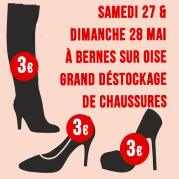 Grand déstockage de chaussures les 27 et 28 mai