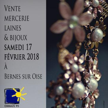 Vente mercerie, laines et bijoux le samedi 17 février 2018 à Emmaüs Bernes