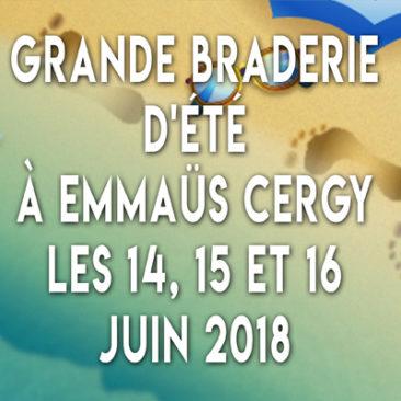 Grande braderie d'été à Cergy les 14, 15, 16 juin 2018