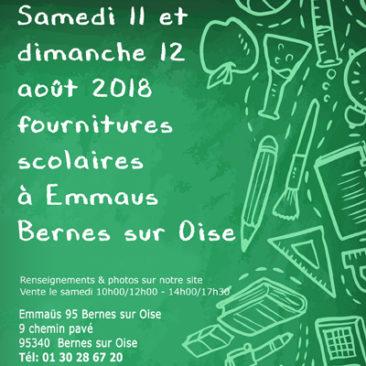 Rentrée scolaire Samedi 11 et dimanche 12 Août à Bernes