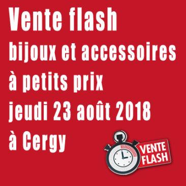 Vente flash de bijoux et accessoires le jeudi 23 août à Cergy