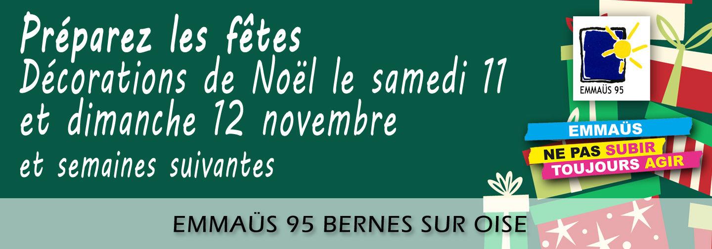 Les 10 & 11 novembre 2018 & semaines suivantes à Bernes Déco de noël