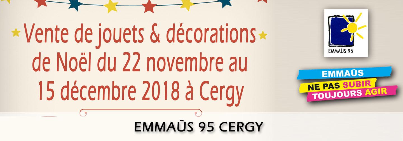 Du 22 novembre au 15 décembre à Cergy Décorations de Noël et jouets