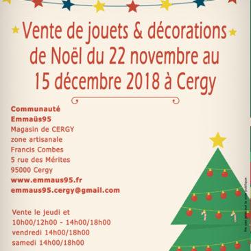 Du 22 novembre au 15 décembre Décos de Noël et jouets à Cergy
