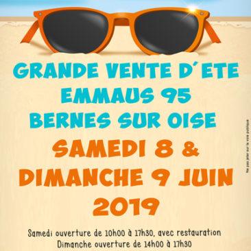 Grande vente d'été à Emmaüs Bernes sur Oise les 8 et 9 juin 2019