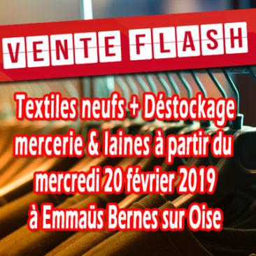 Vente FLASH à partir du mercredi 20 février