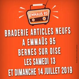 Bernes sur Oise Samedi 13 et dimanche 14 juillet : braderie articles neufs