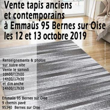 Vente tapis anciens et contemporains 12/13 octobre 2019 bernes sur oise