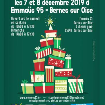 Grande vente de fin d'année à Emmaus 95 Bernes les 7 et 8 décembre 2019