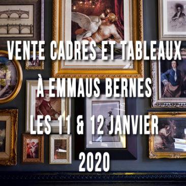 Vente cadres et tableaux les 11 et 12 janvier 2020 à Bernes sur Oise