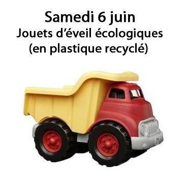 A partir du samedi 6 juin : Jouets d'éveil écologiques  (en plastique recyclé)