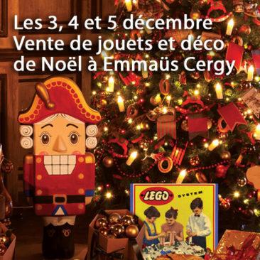 Les 3/4/5 décembre : jouets et déco de Noël à Emmaüs cergy