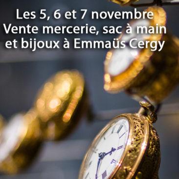 Les 5/6/7 novembre : Vente Mercerie, sac à main et bijoux à Cergy