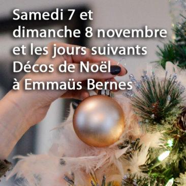 Samedi 7 et dimanche 8 novembre et jours suivants : Décos de Noël à Bernes sur Oise